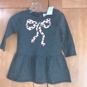 Baby gap gray sweater dress 6-12m